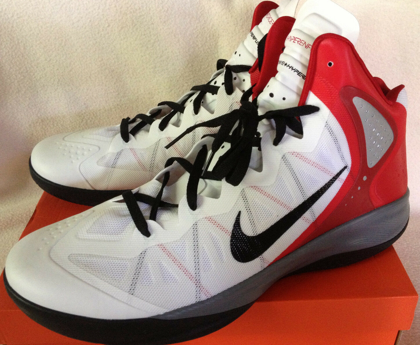 new    Nike Zoom Hyperenforcer Flywire 487786-102 Basketball Shoes Men's 18