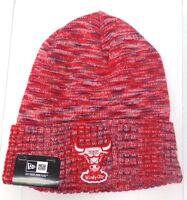 Chicago Bulls Men's Era Cuffed Knit Beanie Red Theme