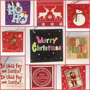 set of 12 folded christmas gift tags labels gift traditional vintage