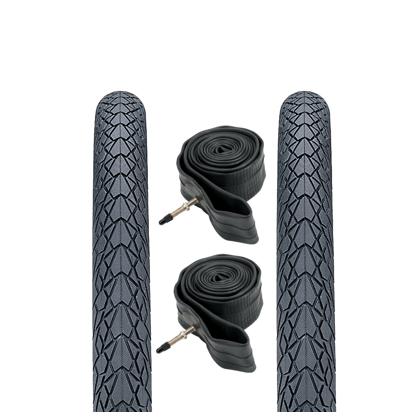 (Pair of) 27.5  650b Puncture Resistant Mountain Bike Road Tyres & Inner Tubes