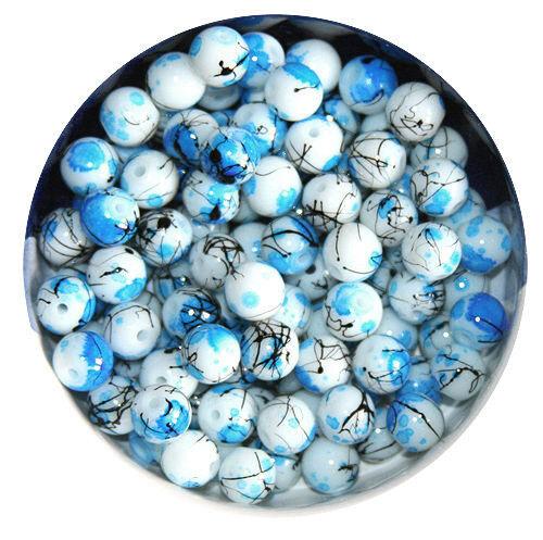 KP8 Glasperlen Kugel Beschichtete Perlen  10mm-20Stück 12mm-10Stück*