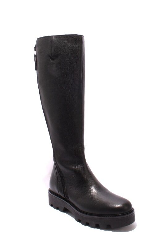 Donna Piu 1003 Black / Leather / Knee-High / Zip-Up Round-Toe Boots 36 / US 6