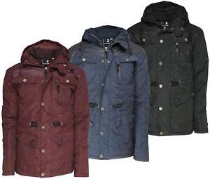 Mens-Soul-Star-Anthor-Padded-Parka-Jacket-Coat