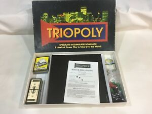 TRIOPOLY-DELUXE-TRADING-BOARD-GAME-3-LEVELS-OF-POWER-PLAY-COMPLETE-VINTAGE
