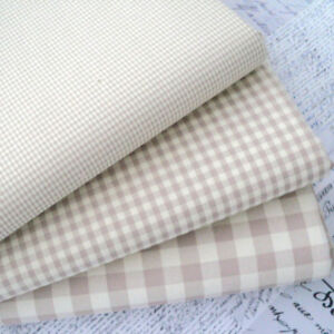 Creatieve hobby's Cotton Rich Sewing Dress Fabric Kent 2 Classic Gingham Fabric Beige