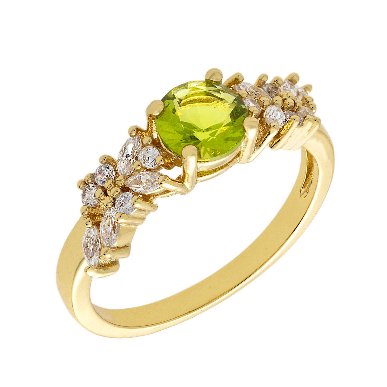 Bertha Juliet Women's 18k YG Plated Green Cluster Fashion Ring BRJ10690R7