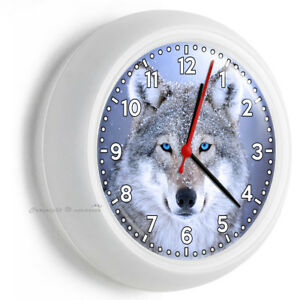 Image Is Loading Wild Gray American Blue Eye Wolf Snow Wall
