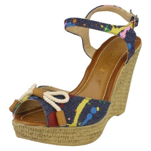 Ladies Spot On High Rope Platform *Wedge Sandal*