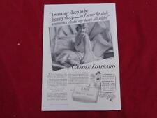 1935 CAROL LOMBARD for LUX TOILET SOAP Advertisement