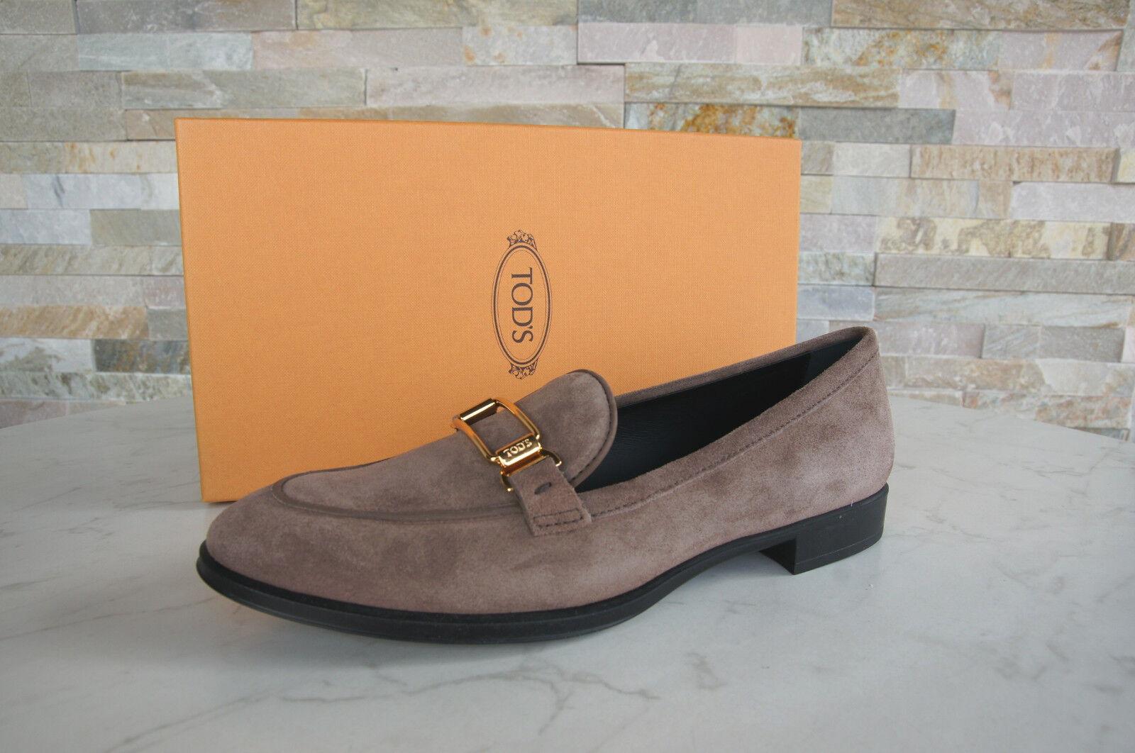 TODS TOD'S T 37 Pantoufles Chaussures Basses loafers chaussures capuccino Nouveau Ancien Prix Recommandé