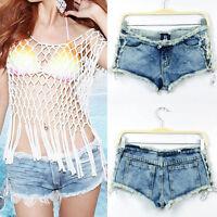 Sexy Women Denim Jeans Shorts Short Hot Pants Low Waist Page Tabs Popular