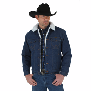 b58613a7981 Image is loading WRANGLER-74255PW-WESTERN-SHERPA-LINED-DENIM-JACKET-INDIGO-