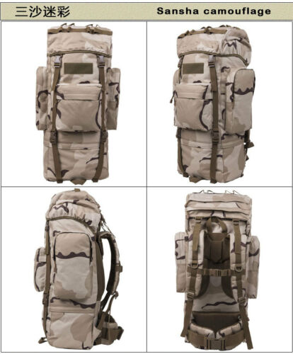 65L 100L Waterproof Outdoor Sports Travel Luggage Backpack Internal Frame Pack**