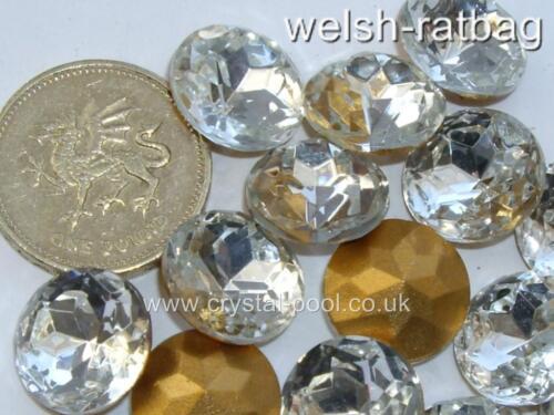 3 X 60ss Cristal Checo Diamanté Oro frustrado macizo montañoso