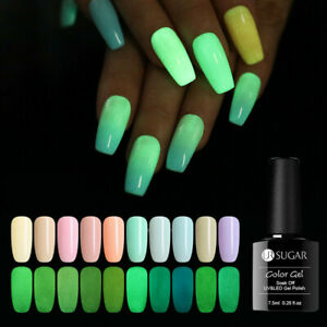 UR-SUGAR-7-5ml-Luminous-Gel-Nagellack-Green-Soak-Off-UV-Nagel-Gel-Nagellack