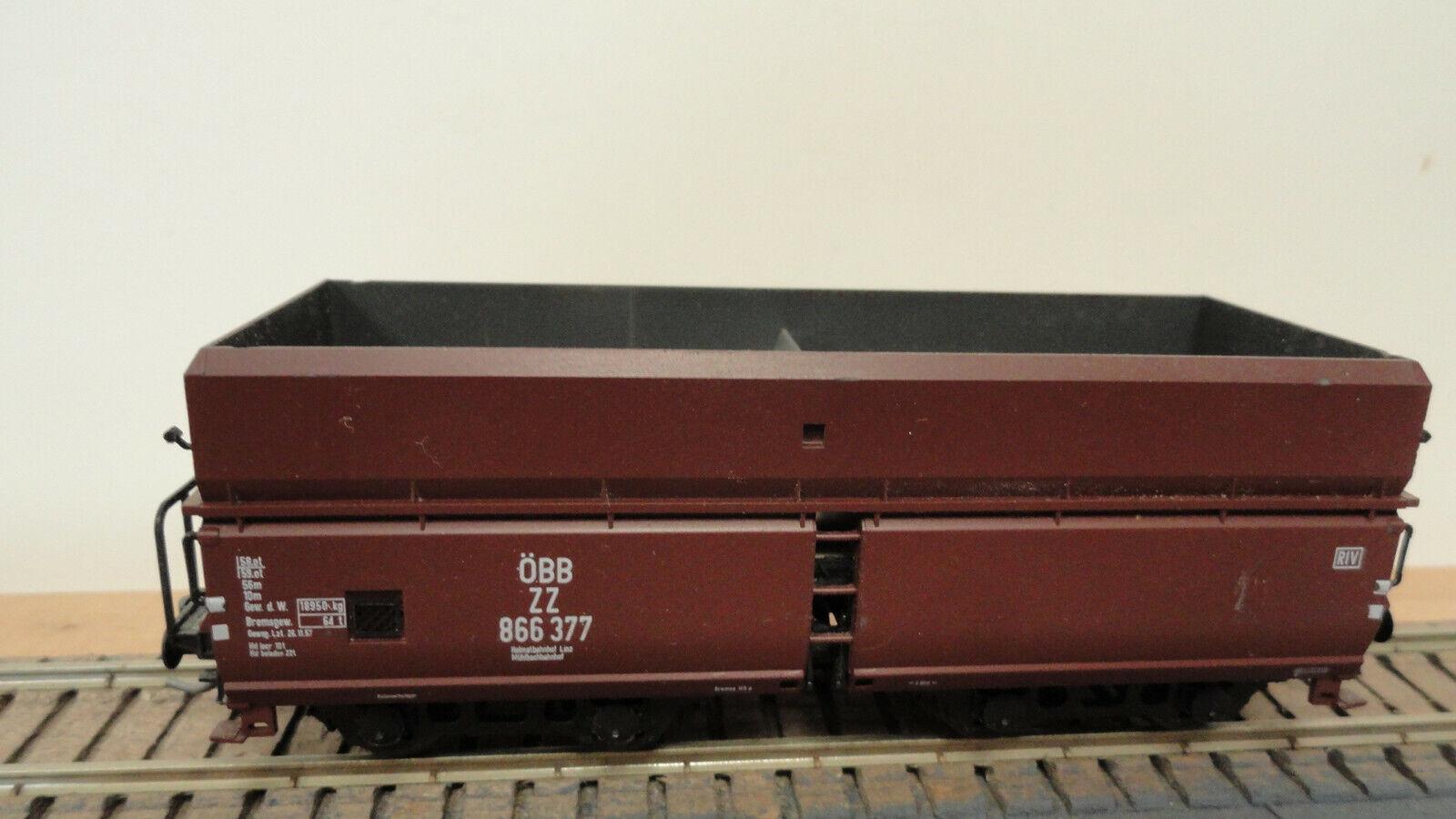 Unknown HO J003 OBB ZZ 866 377 hopper car w  Kadee & RP25. No original box