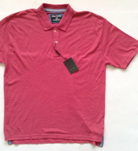 PETER GRIBBY MENS PINK POLO T-SHIRT XL SHORT SLEEVES COTTON RICH NEW