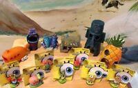 Spongebob & Friends & Houses 13 Pc Aquarium Us Seller Decoration Ornaments Set