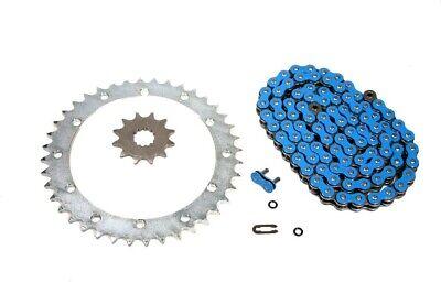 Power Blue X-Ring Chain /& 12//40 Sprocket Set 2001-2005 Yamaha Raptor 660