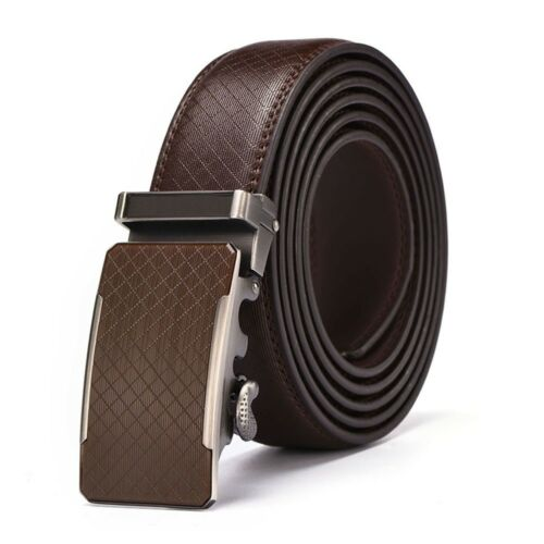 Herren Business Echtes Leder Ratschengürtel Automatische Schnalle Jeans Geschenk