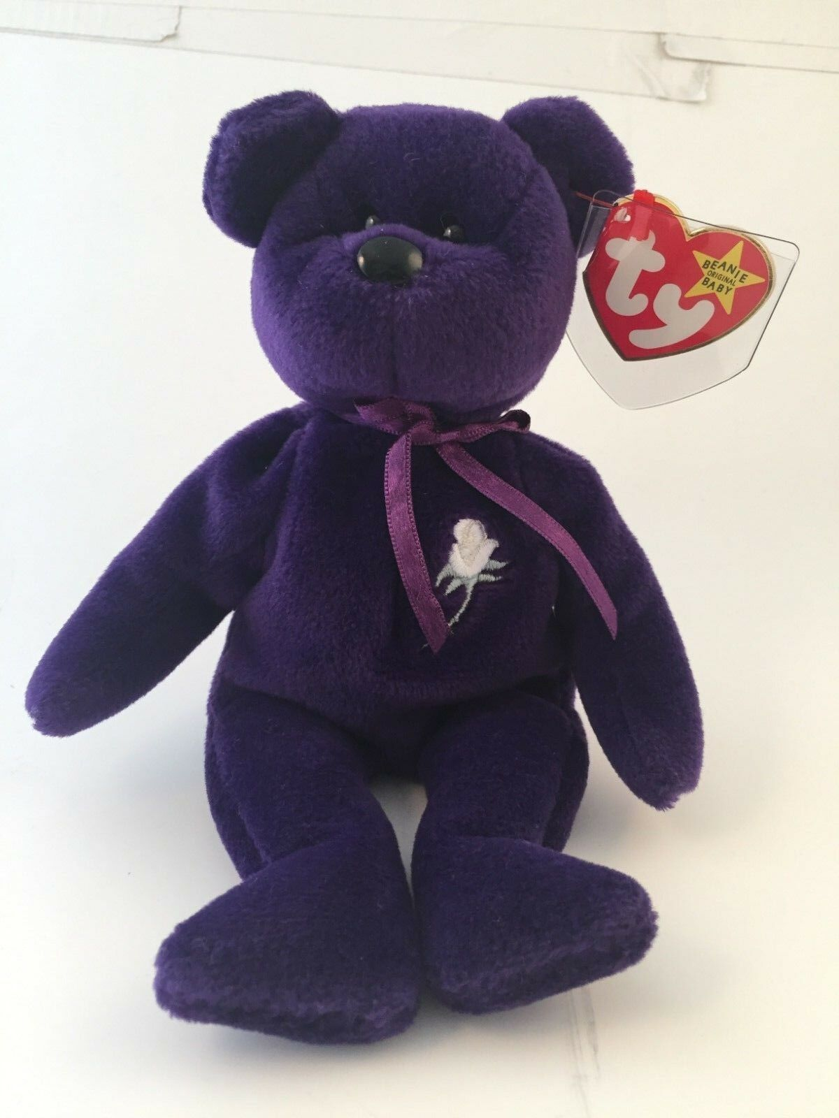 """Ty """"Princess"""" Bear Authenticated MWMT Museum Quality"""