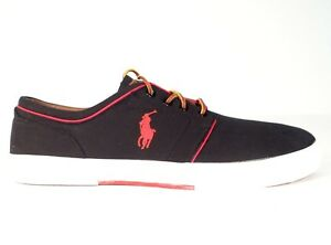 Image is loading Polo-Ralph-Lauren-Black-Faxon-Low-Casual-Shoes-