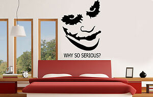 Image Is Loading Joker Why So Serious Viny Wall Stickers Wall