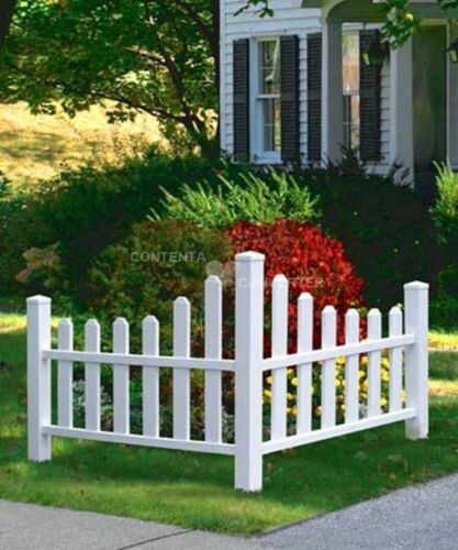 """New England Country Corner Picket Fence 43/""""H"""