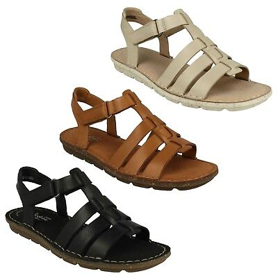 BLAKE JEWEL LADIES CLARKS CASUAL FLAT SUMMER GLADIATOR LEATHER STRAPPY SANDALS | eBay