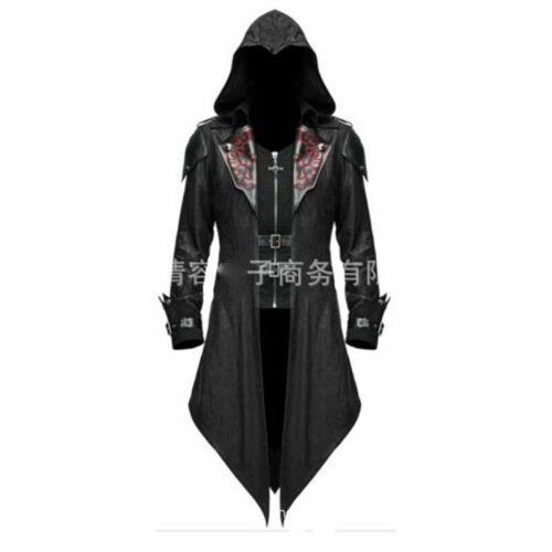 Assassin/'s Creed Cosplay Adult Man Woman Streetwear Hooded PU Jackets Outwear Co
