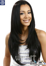 SHARON | WEAVE-A-WIG | BLENDED HUMAN HAIR | NATURAL BLACK | BOBBI BOSS