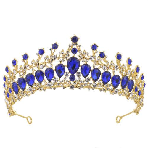 Bridal Bride Rhinestone Pearl Crystal Hair Tiara Wedding  Party Crown HeadbRDY4