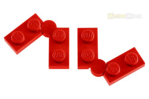 2x LEGO® 2429c01 1x4 Scharnierplatte rot red NEU