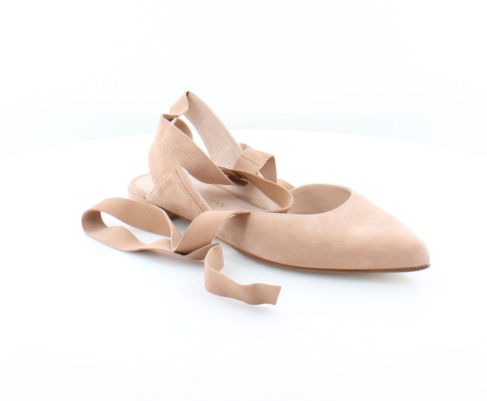 Stuart Weitzman Superson Beige Womens Shoes Size 8 M Flats MSRP $398