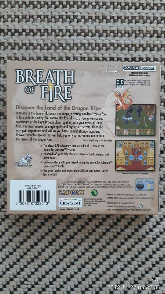 Breath of Fire, Gameboy Advance, rollespil