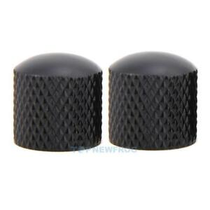 4x-Black-Metal-Dome-Volume-Tone-Control-Knobs-for-Electric-Guitar-Bass-Black-New