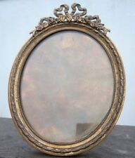 Cadre photo miniature laiton décor nœud ruban style louis XVI époque 19ème