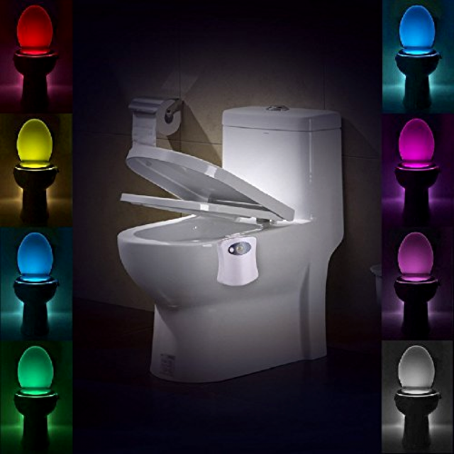 Rico Lighting Led Bathroom Toilet Nightlight Automatic Motion Sensor Activated
