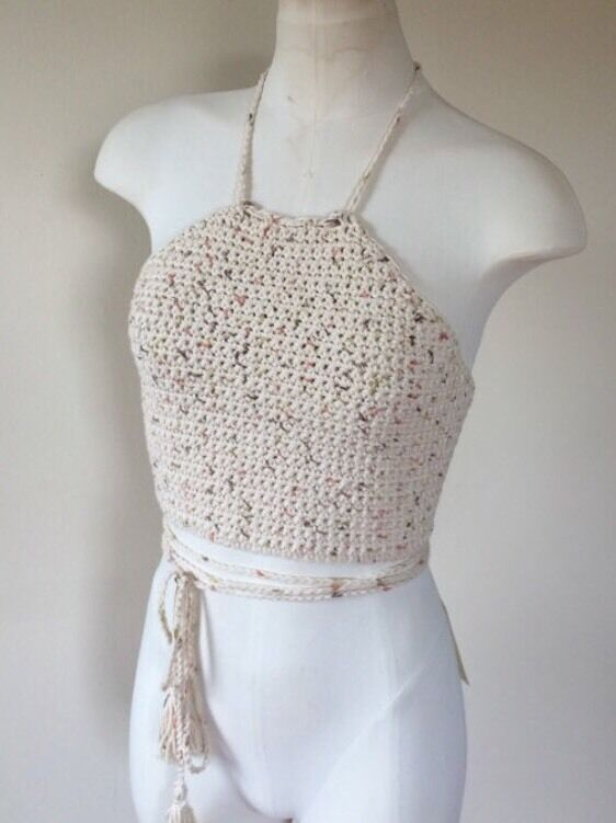 Crochet Halter Top. Crochet Crop Top. Festival Top. Summer Top
