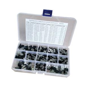 Lot-de-370-boites-de-kit-d-039-assortiment-de-transistors-de-puissance-encapsules