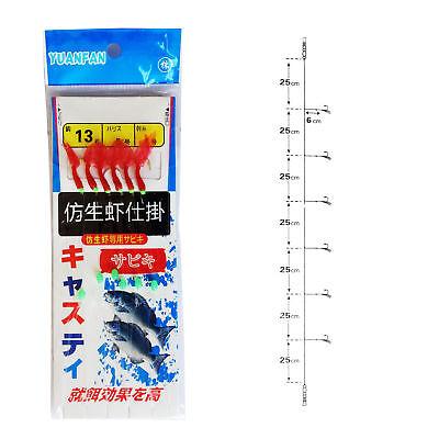 1~10pack Sabiki Bait Rigs Saltwater Freshwater Fishing Lure Real Fish Skin Beads