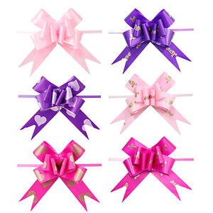10pcs-Ribbon-Pull-Bows-Flower-Wedding-Decoration-Gift-Wrap-DIY-Fresh-SM