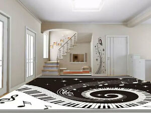 Image Is Loading 3D Music Note Keyboard Floor Mural Photo Flooring