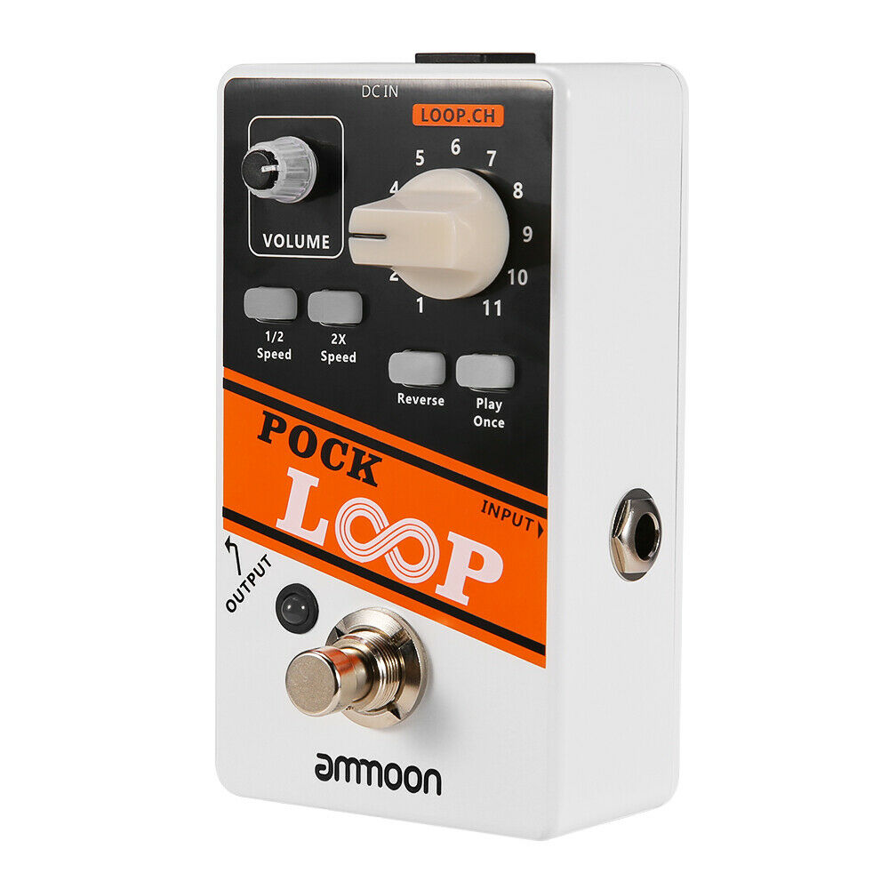 POCK LOOP Electric Guitar Effect Pedal Looper True Bypass Unlimited Overdubs UK
