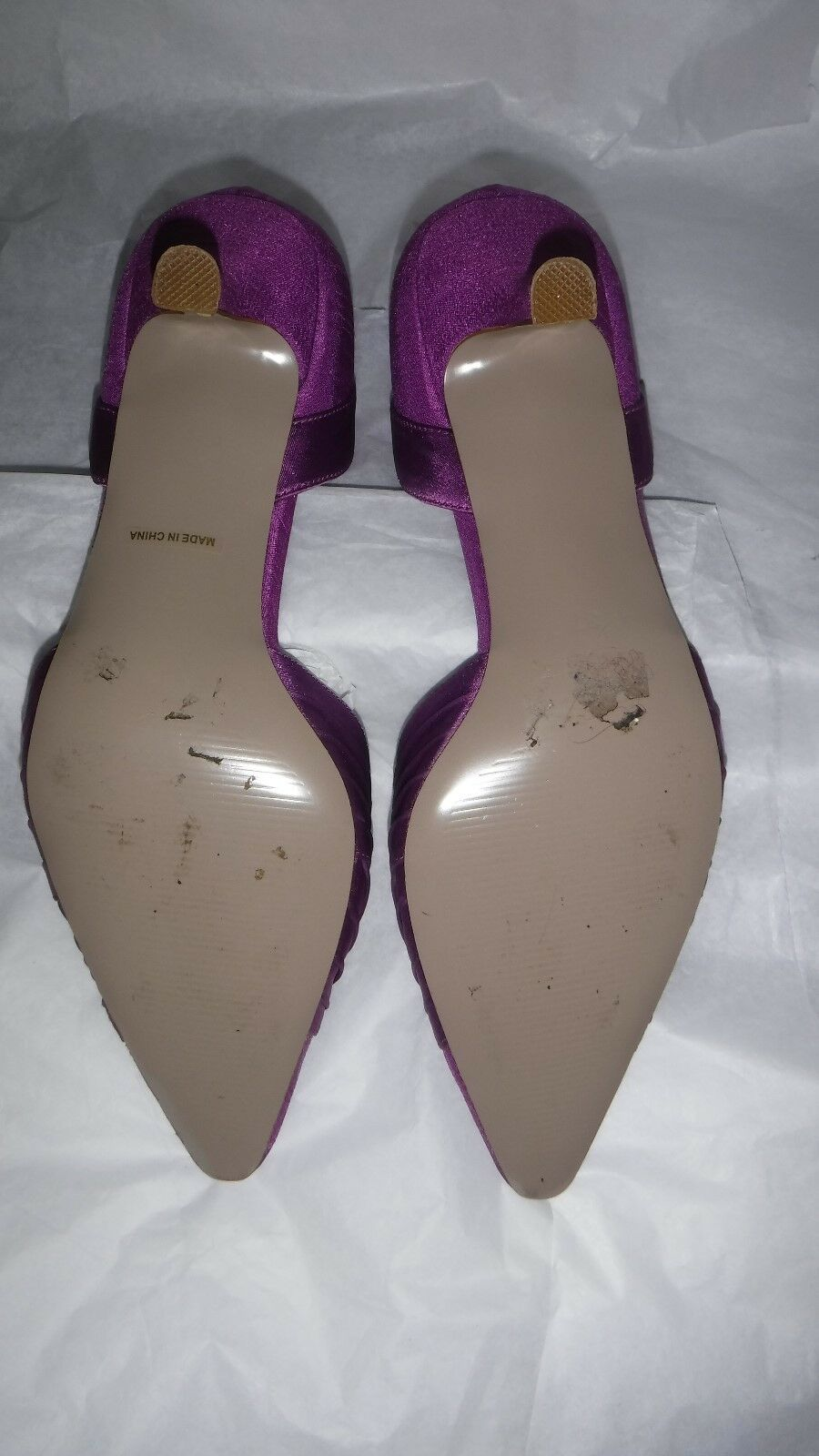 JACQUES VERT Schuhe LIGHT PURPLE SATIN PLEAT Schuhe VERT EU 37 UK 4 & MATCHING BAG cb606d