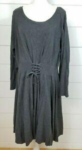 torrid plus size 5 5x lace up front corset sweater dress