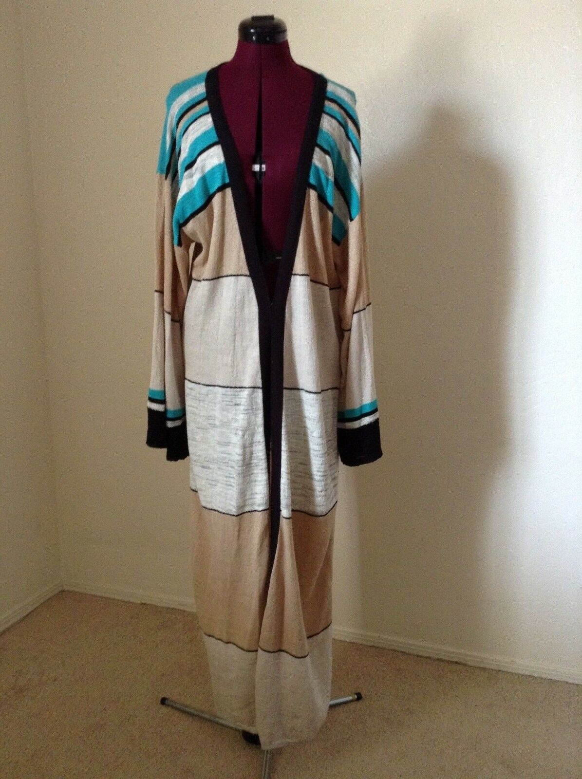 NEW FREE PEOPLE  168 'Walk The Line' Long CardiganFull LengthLarge