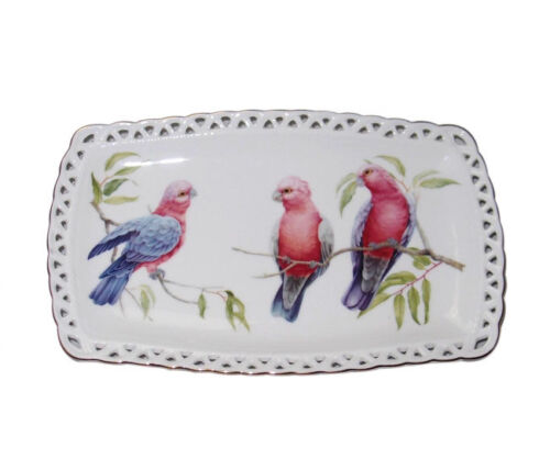 French Country Chic Kitchen Elegant Plate AUSTRALIAN GALAH Serving Tray New