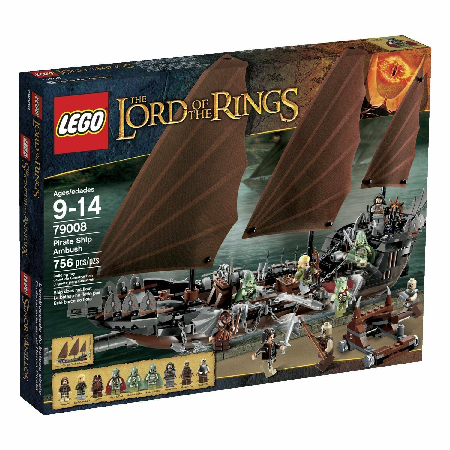 risparmiare fino all'80% Lego Lord of of of the Rings 79008 PIRATE SHIP AMautobusH Castle Knights Aragorn NISB  prima qualità ai consumatori