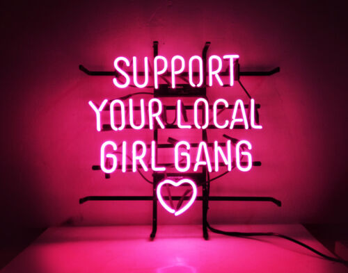 "Support Your Local Girl Bang Handmade Visual Artwork Beer Bar Wall Poster18/""x16/"""